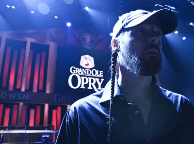 Dan Grimm on stage at The Grand Ole Opry